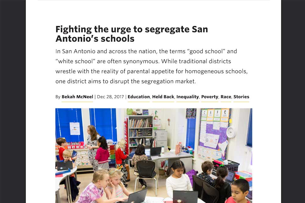 Fighting urge to segregate san antonio's schools