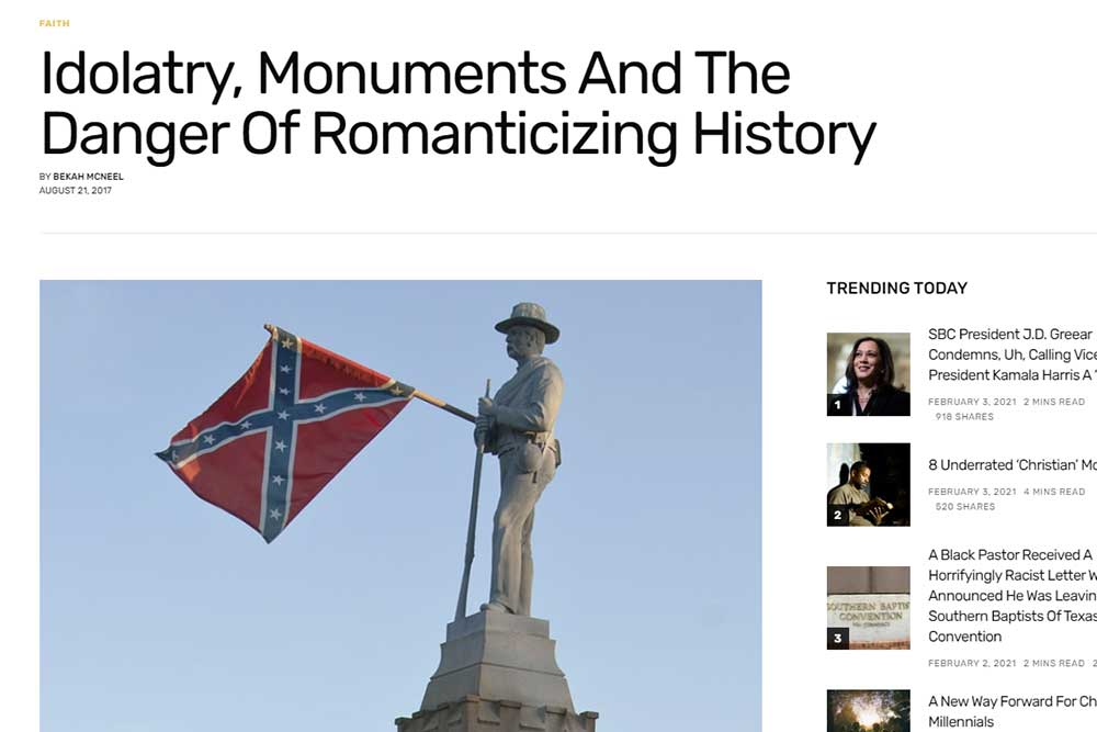 Idolatry, Monuments And The Danger Of Romanticizing History