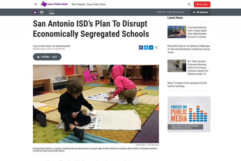 san antonio plan to disrupt economically segregated schools